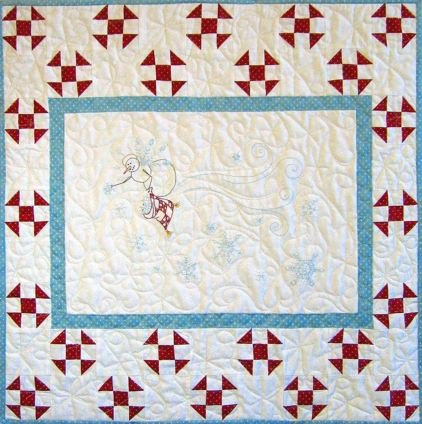 Hand embroidery pattern snowflake angel crabapple hill studio