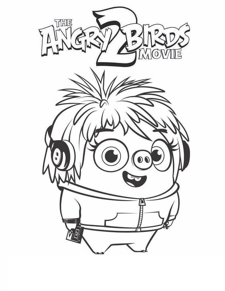 Angry Birds Coloring Pages Courtney Angry Birds 2 Coloring Page Free Printable In 2020 Coloring Books Cartoon Birds Cartoon Coloring Pages