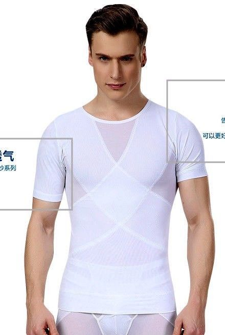 37d5d576d0e83 MENS SLIMMING COMPRESSION T SHIRT VEST FOR GYNECOMASTIA MALE CORSET BELLY  BUSTER  fashion  clothes