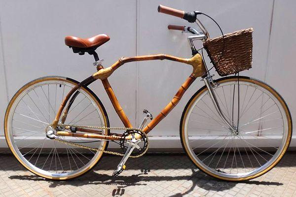 A incrível bicicleta de bamboo, dos gaúchos Marcos Nicolaiewsky e Klaus Volkmann, da Art Bike Bamboo.