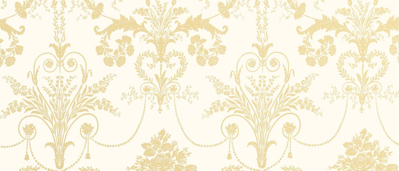 josette camomile white wallpaper at laura ashley tapeten. Black Bedroom Furniture Sets. Home Design Ideas