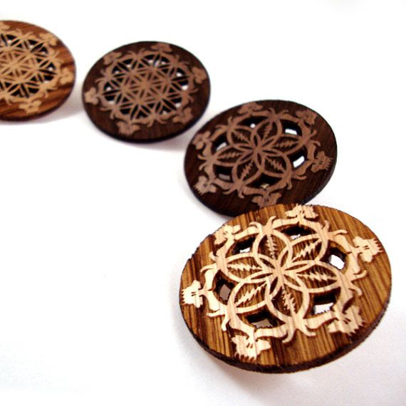 GD Inspired Flower of Life Hat Pins  Sustainably by KCsGlass
