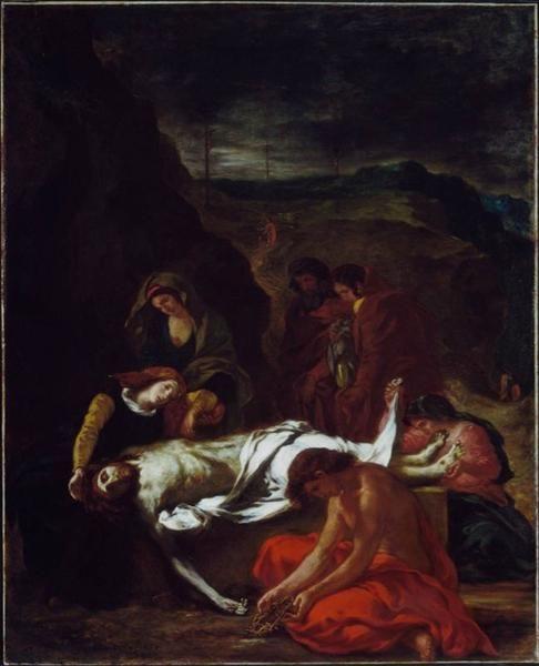 El Entierro de Cristo de 1848 - Eugène Delacroix