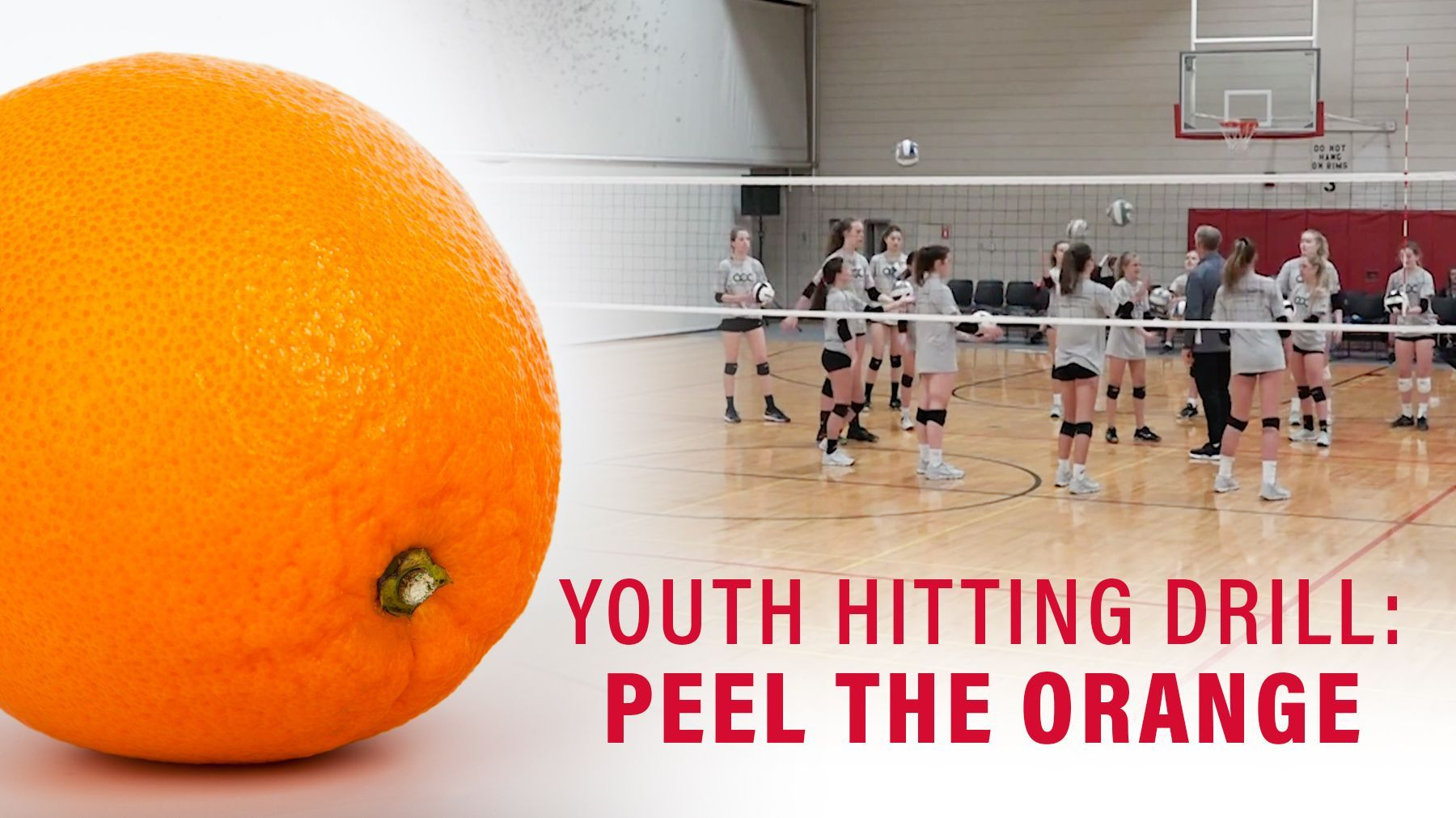 Youth Hitting Drill Peel The Orange Coaching Volleyball Drill Youth Volleyball