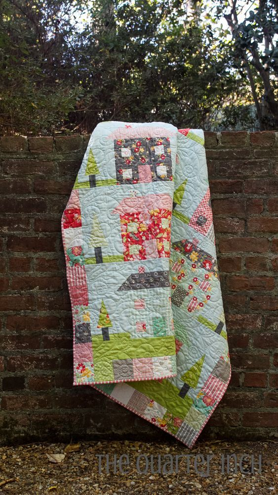 Happy Scrappy Village Quilt Moda Bake Shop House Quilts And Craft