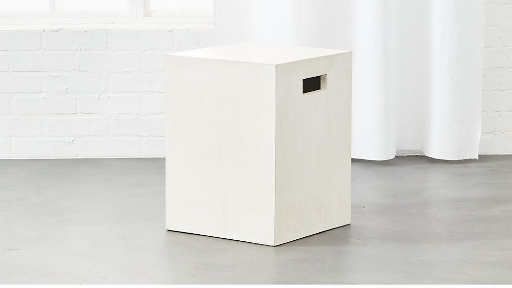 Cement Ivory Side Table Cb2 Modern Side Table Modern Table