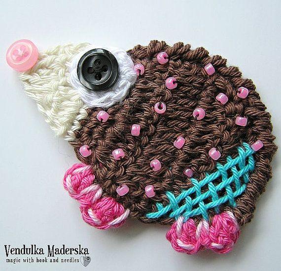 Crochet Patrón apliques de erizo DIY por VendulkaM en Etsy, $4.50 ...