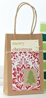 All Tied Up Christmas Gift Bag by @Teri Anderson - supplies and instructions included