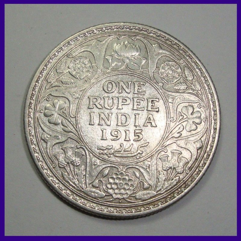 British India 1915 One Rupee Silver Coin George V King Coins For Sale Coins Old Coins
