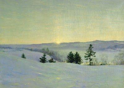 Walter Launt Palmer (American painter, 1854-1932) The Last Gleem