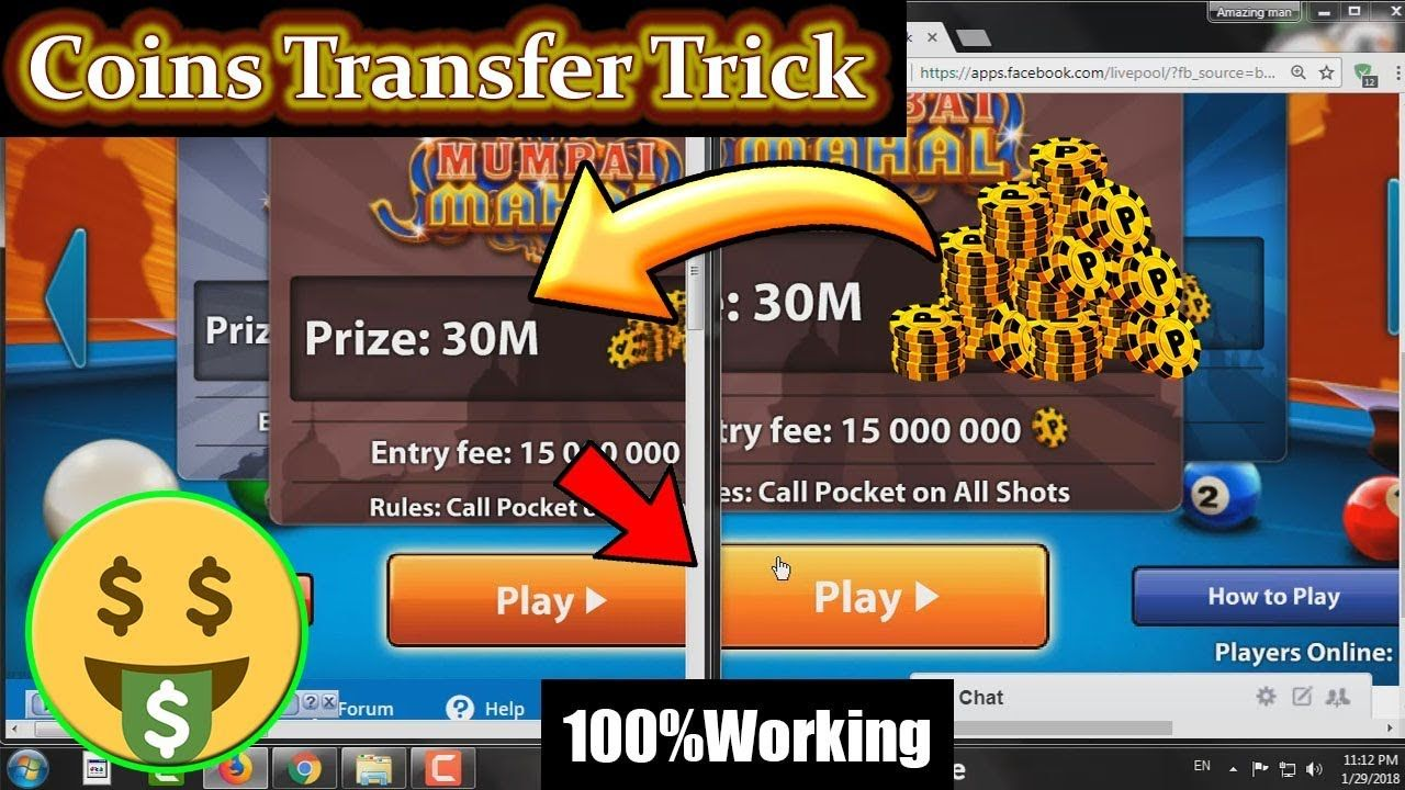 How To Transfer 8 Ball Pool Coins Without Getting banned