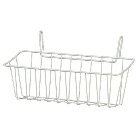 ClosetMaid Small Hanging Wire Basket   White