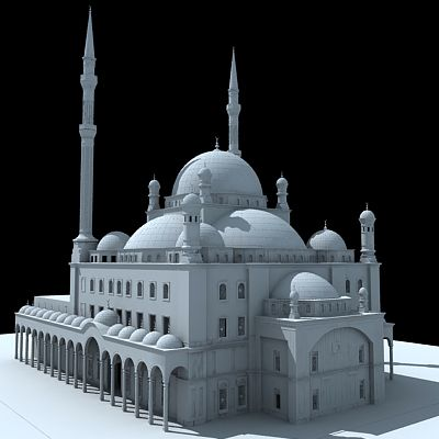 Free 3D Model of Mohamed Ali Mosque | 3d in 2019 | Model