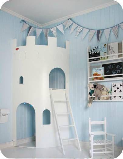 Chambre enfant gar on ch teau fort chambre d 39 enfant en - Lit chateau pour petite fille ...