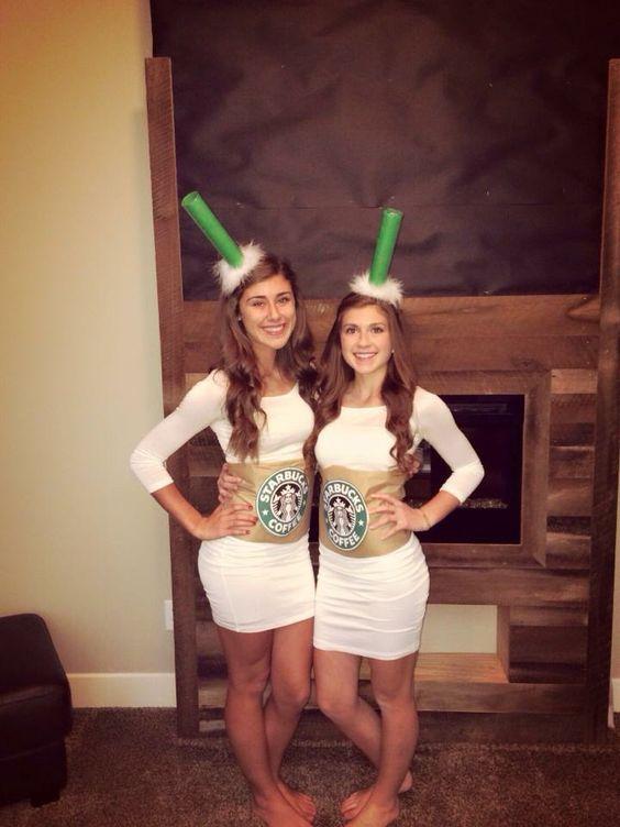 Starbucks cups Halloween costume idea halloween Pinterest - halloween costume ideas for friends