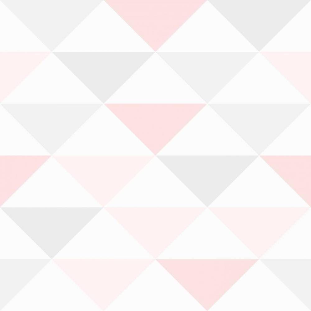 Papel De Parede Cole O Geometria Rosa Branco E Cinza Pa7909  ~ Papel De Parede Para Quarto De Bebe Rosa E Marrom