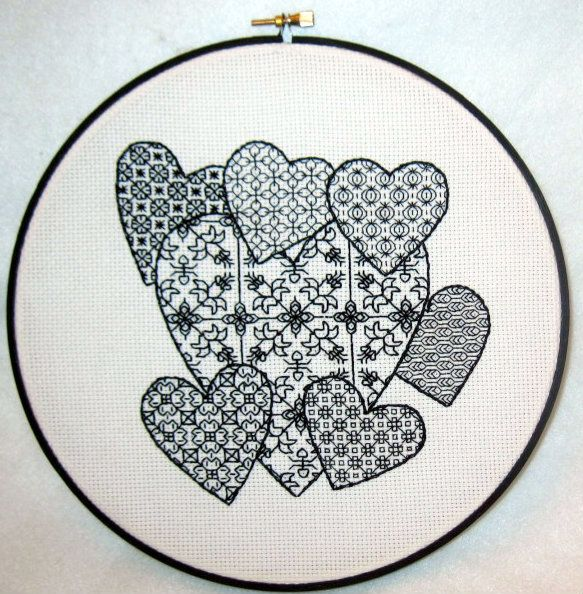 Blackwork pattern for you to try! | Crafts | Pinterest | Bordado ...