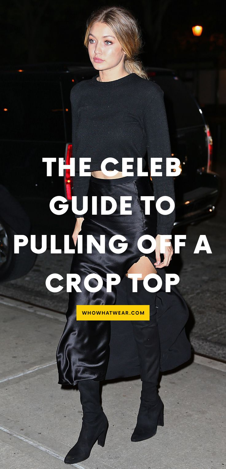 How celebs wear a crop top almost everywhere