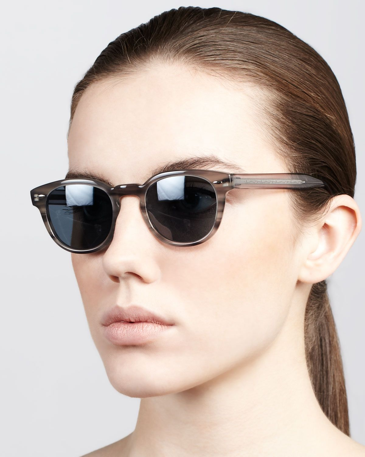 Oliver Peoples Woman Round-frame Acetate And Gold-tone Sunglasses Light Brown Size Oliver Peoples V3319Ut
