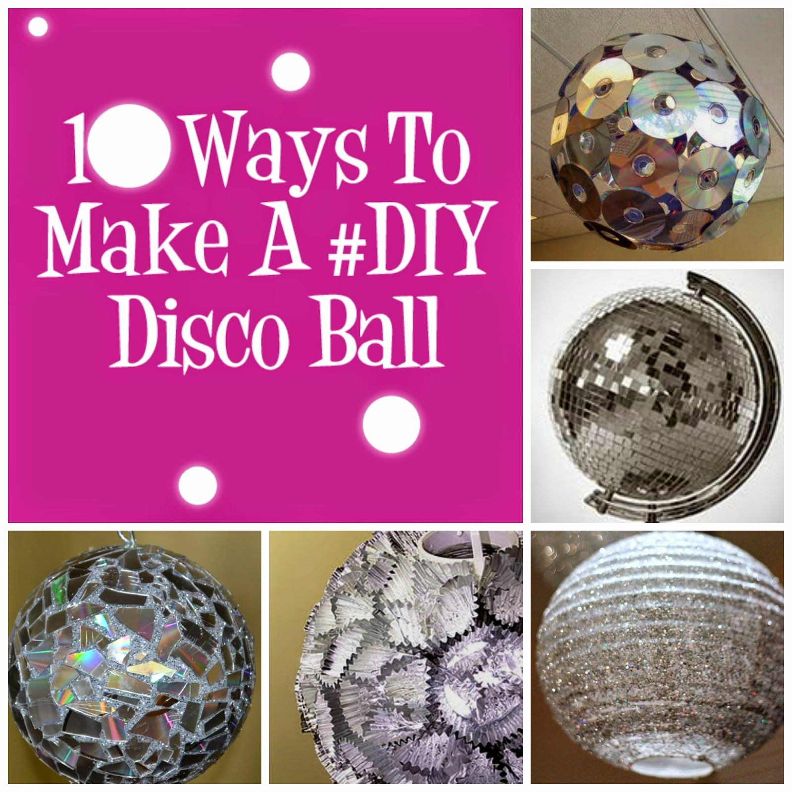 Disco Ball Party Decorations: Disco Ball, Recycled
