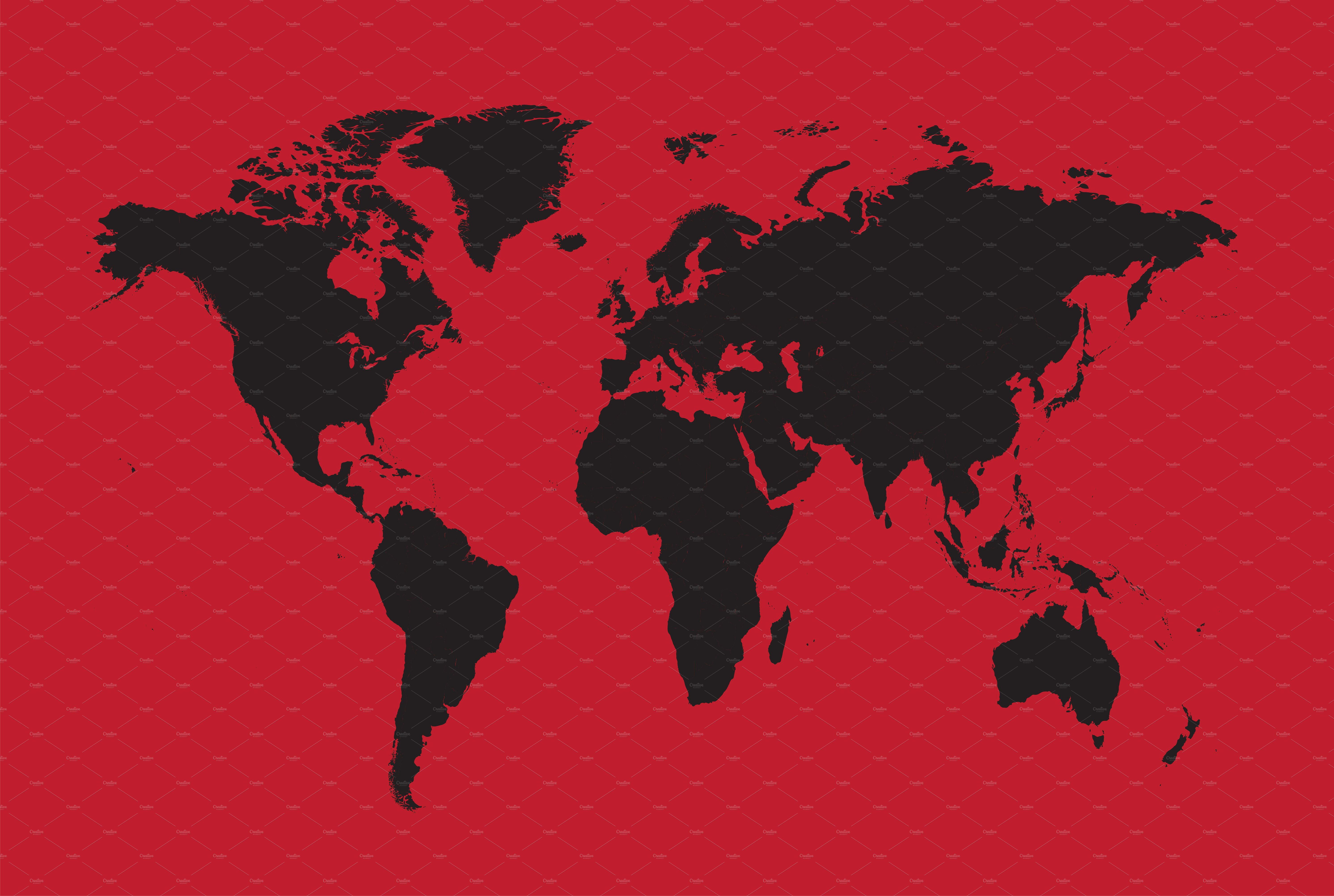 World Map Black With Red Background Red Background Map Wallpaper Detailed World Map