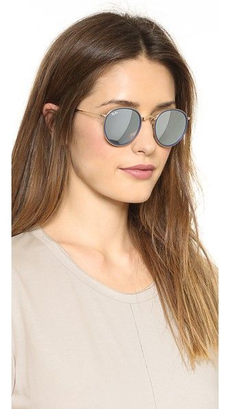 dfe5fef06 RB3517 Mirrored Round Folding Icon Sunglasses | Fashion | Ray ban ...