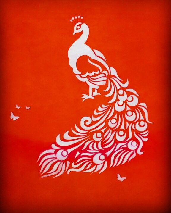 Peacock Wall Painting Design