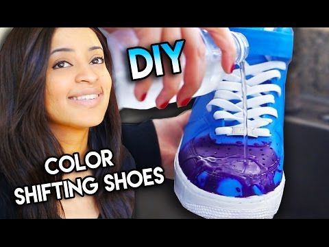 53d01f98f04 How To  Color Changing Shoes With Water Heat Solar   Blacklight Exsposure