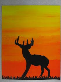 6th Grade Silhouette Paintings Canvas Painting Designs Young