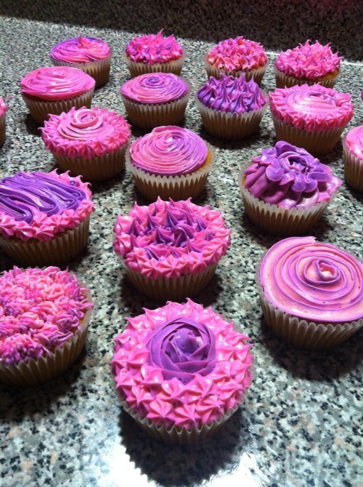 pink and purple cupcakes cakes by meeeee pinterest