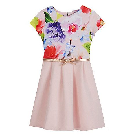 40c44125ce3363 Baker by Ted Baker Girls  pink floral print belted dress