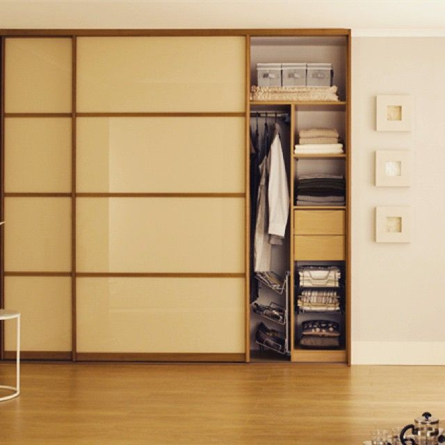 Our Cream Glass Sliding Wardrobes Beautifully Incorporates The