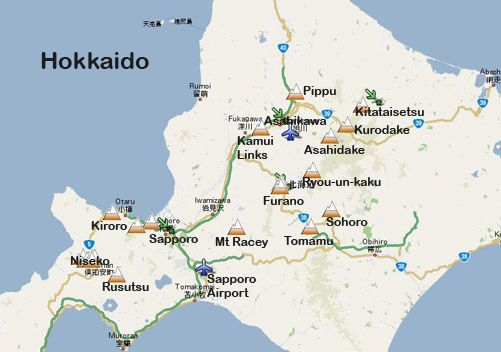 Niseko, Japan - Sapporo starting this Nov! @hawaiianair - wwwslopes - best of world map with japan
