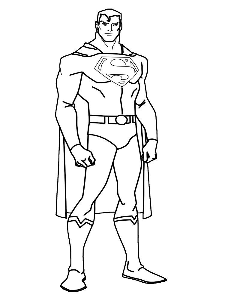 Superman Superman Para Colorear Superheroes Para Colorear