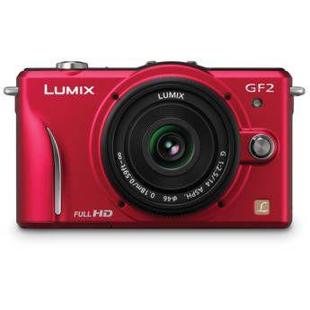 Panasonic Lumix Dmc Gf2 Digital Micro Four Thirds Camera W 14mm Lens Red Digital Camera System Camera Latest Digital Camera