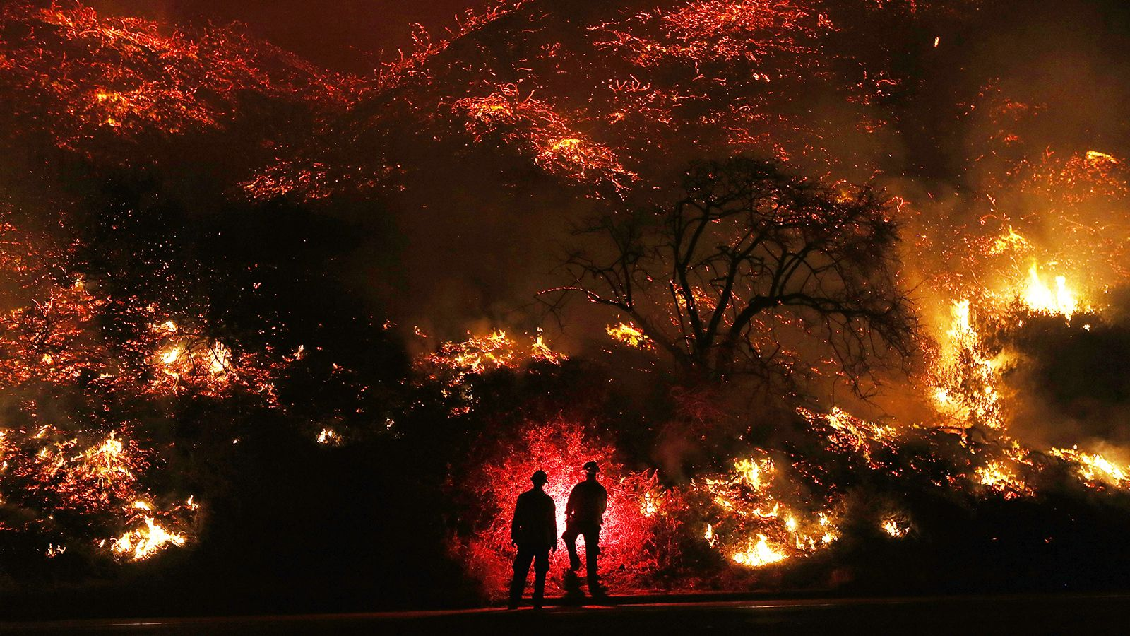 The first wintertime megafire in California history is