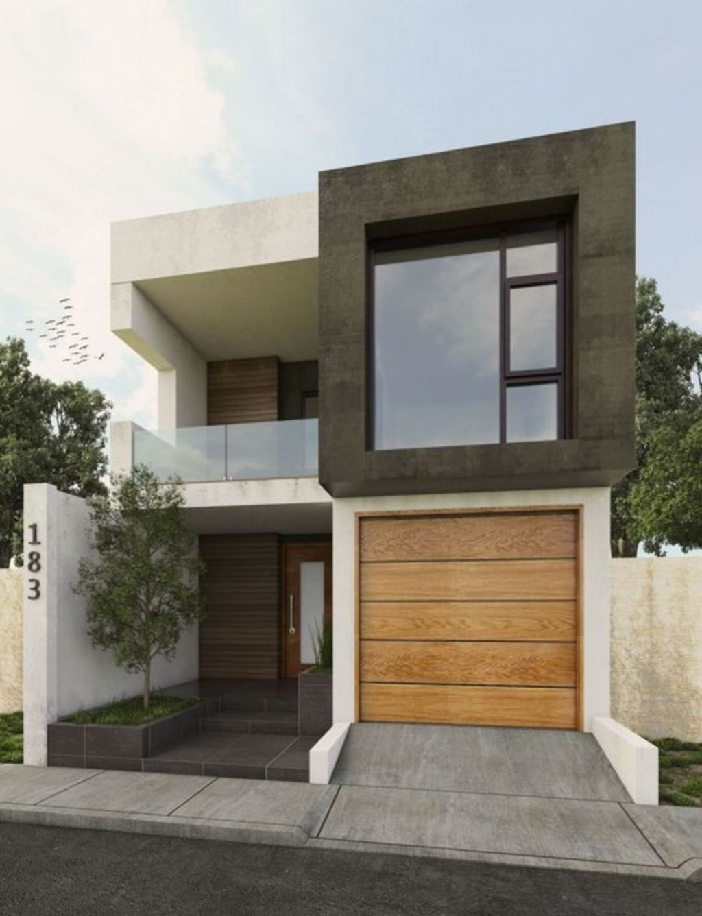 33 Stunning Small House Design Ideas Small Modern Home Modern Minimalist House House Architecture Design