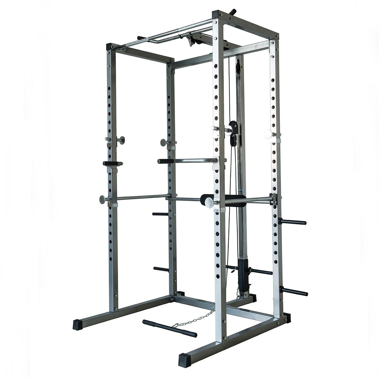 Akonza Athletics Fitness Power Rack With Lat Pull