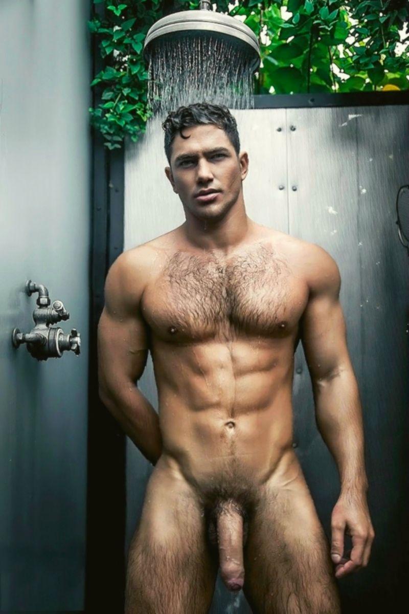 nude wet male