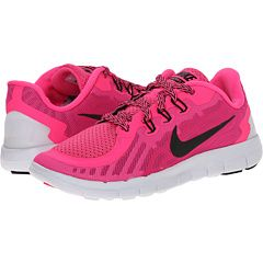 ca028a8e2803 Nike Kids Free 5 (Little Kid) Pink Pow Vivid Pink White Black - Zappos.com  Free Shipping BOTH Ways