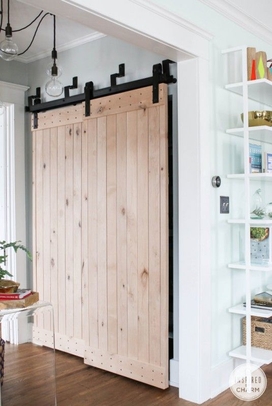 Remodelaholic 35 Diy Barn Doors Rolling Door Hardware Ideas Diy Barn Door Home Barn Door Closet