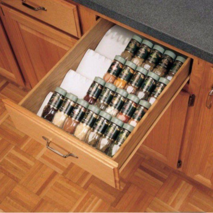 Kitchen Drawer Organizer Spice Tray Insert, Rev-a-Shelf ST50 ...