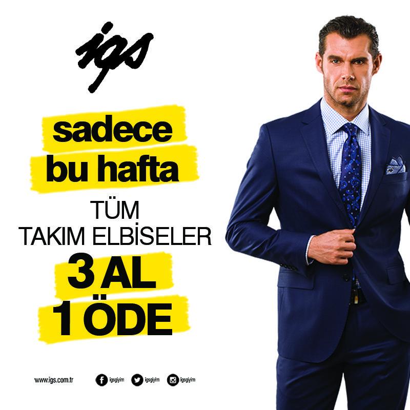 16eae59040dba Sadece bu haftaya özel tüm takım elbiselerde 3al 1 öde fırsatı Marmara Park  igs'de!