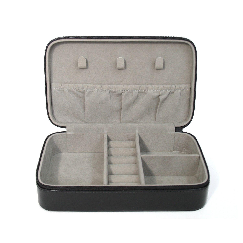 Palace Ii White Wash Bonded Leather Sleigh Bedroom Set: Royce Leather 'Aristo' Italian Leather Jewelry Case Aristo