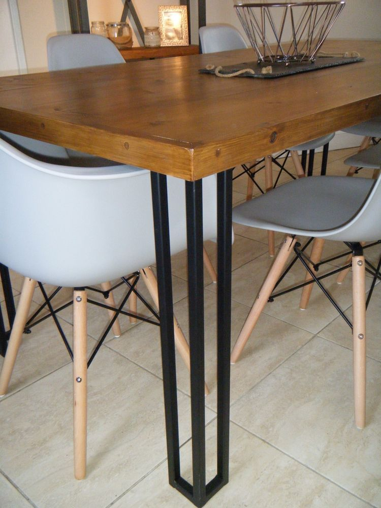 Details about Metal Table Legs (Black) (Upcycling) Hairpin ...