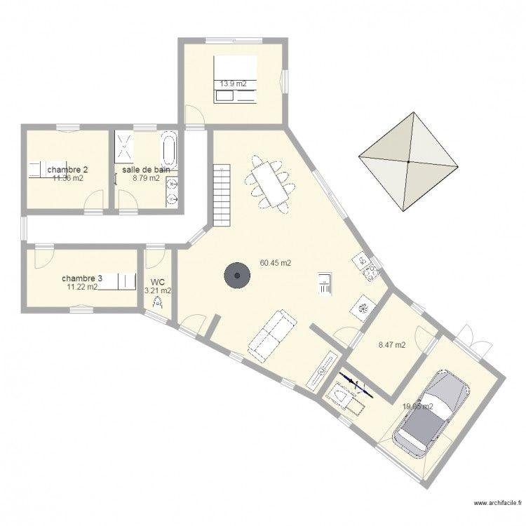 maison 2 juillet 2015 Plan de 8 pièces et 137 m2 Plan Maison