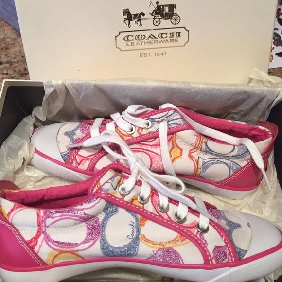 NIB-Pink Coach sneaker   Coach sneakers