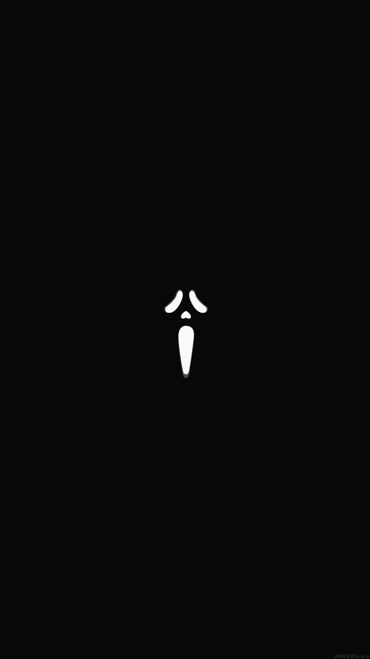 Scream Black Minimal Cute Art Wallpaper Hd Iphone Cute Art Art Wallpaper Iphone 6 Plus Wallpaper