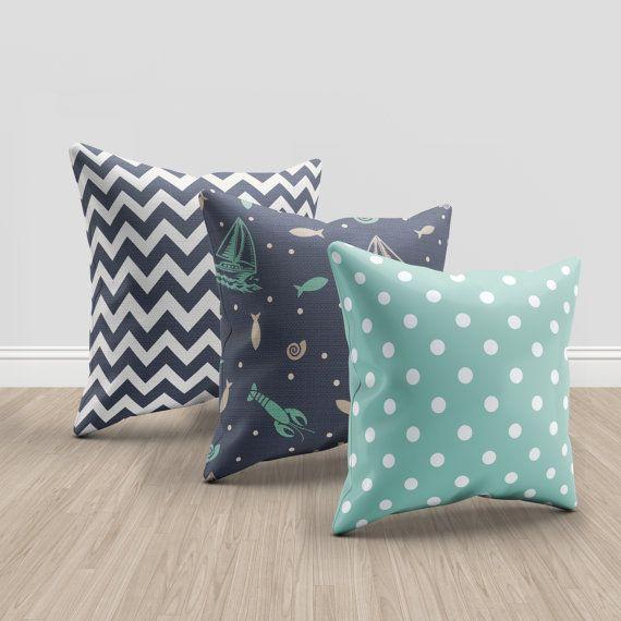 26X26 Pillow Insert Gorgeous 3 Throw Pillows Set Of 3 Modern Pillow Set Chevron Nautical Decorating Design