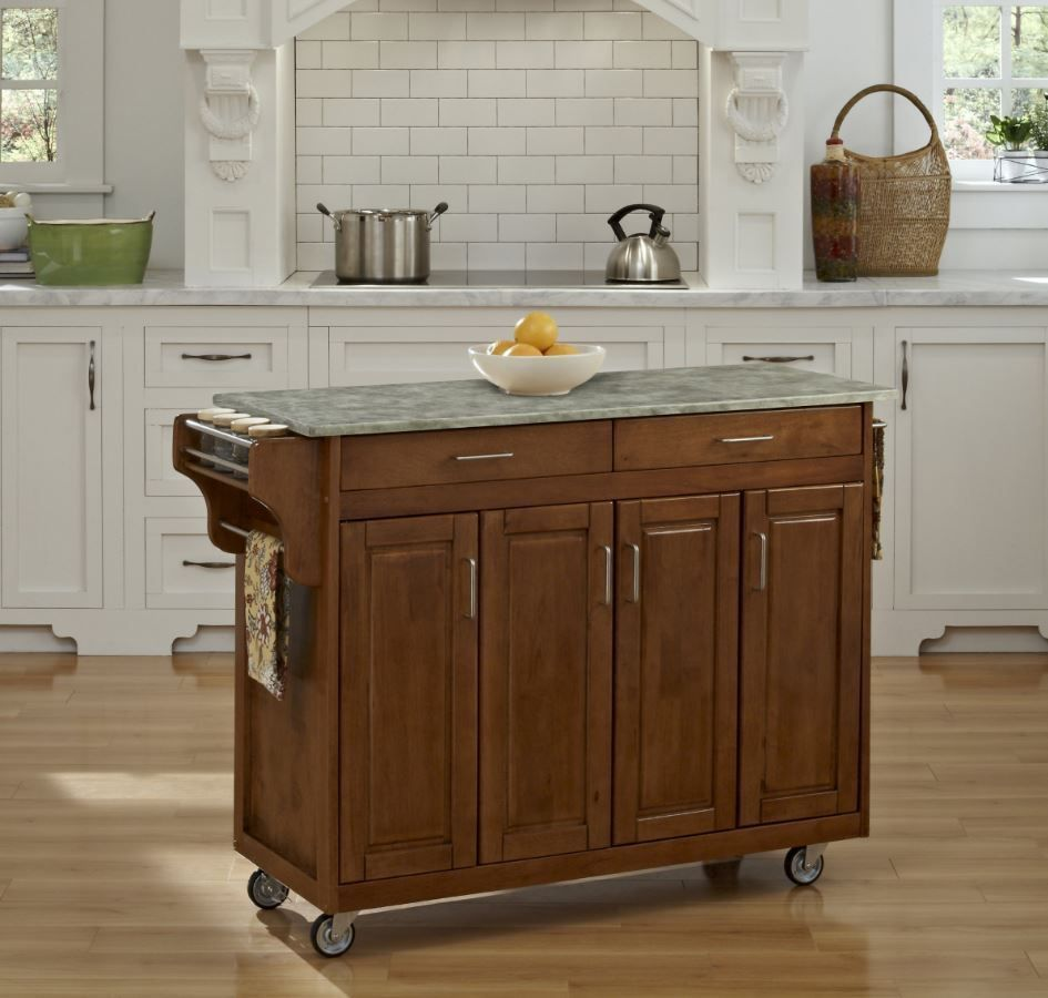 Home Styles Create A Cart 34 In. Portable Kitchen Cart   The Home Styles  Create A Cart 34 In. Portable Kitchen Cart Is As Customizable As It Is  Convenient.